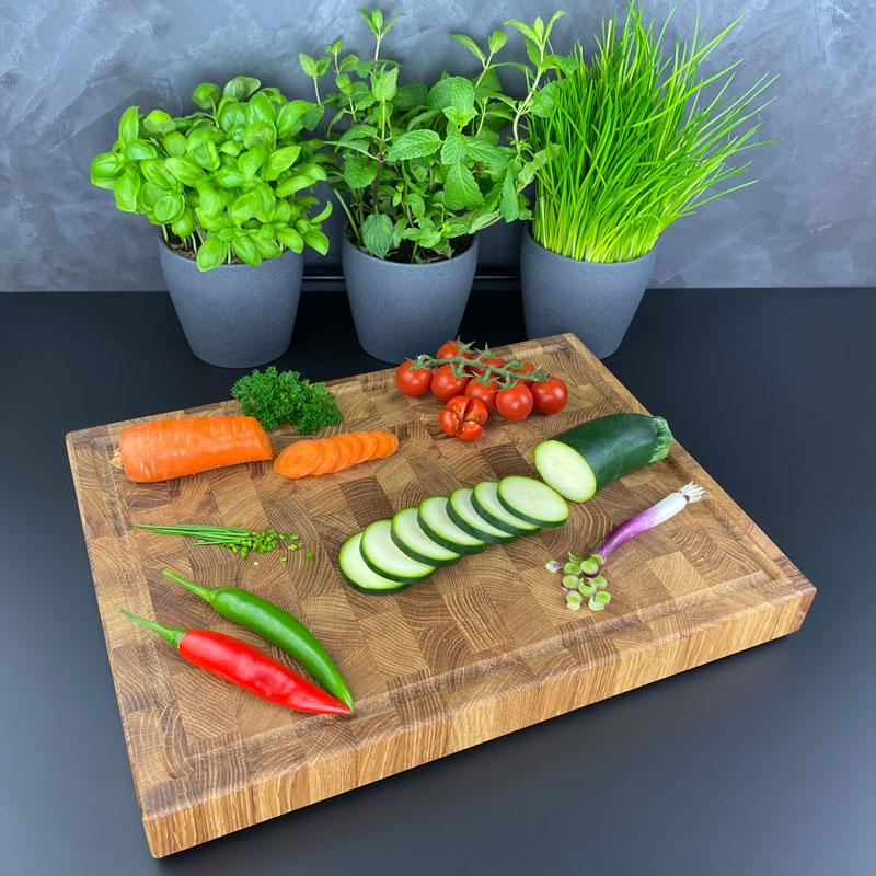 Schneidebrett Gemüse - Holz Gold