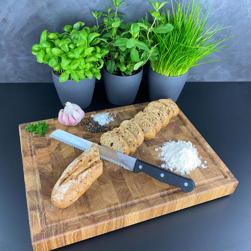Schneidebrett Brot - Holz Gold