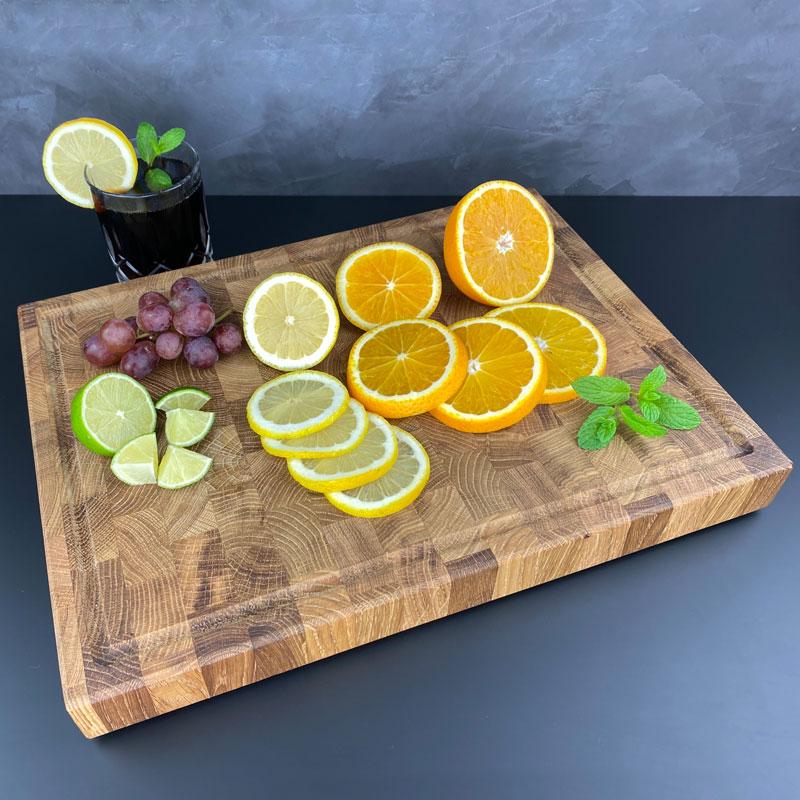 Schneidebrett Obst - Holz Gold